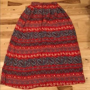 Floor length cotton skirt